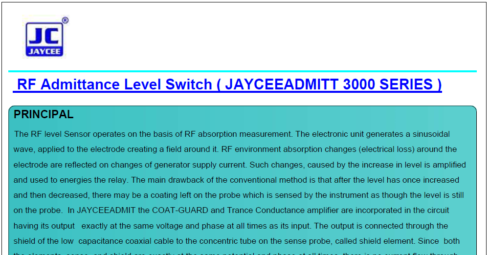 RF-Admittance-Level-Switch