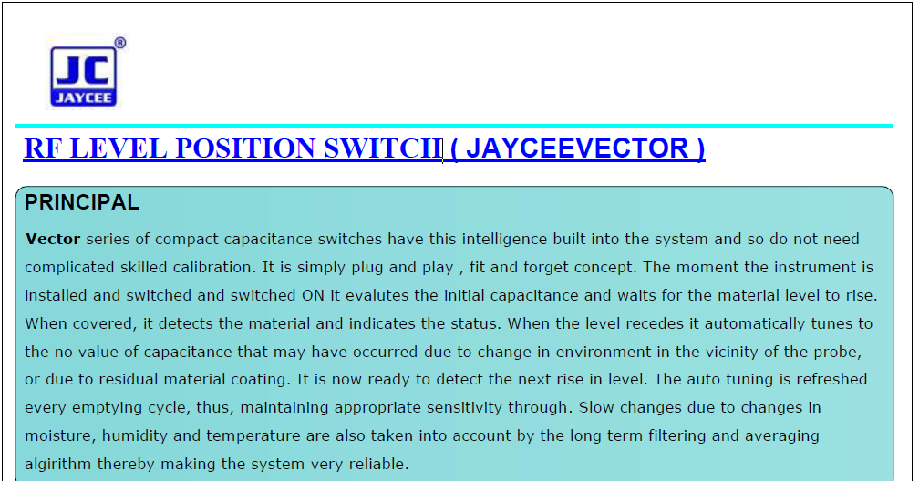 RF-Level-Position-Switch